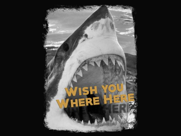 Wish you where here t shirt design for sale
