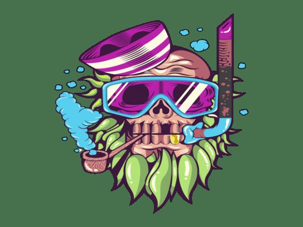 skull snorkle buy t shirt design
