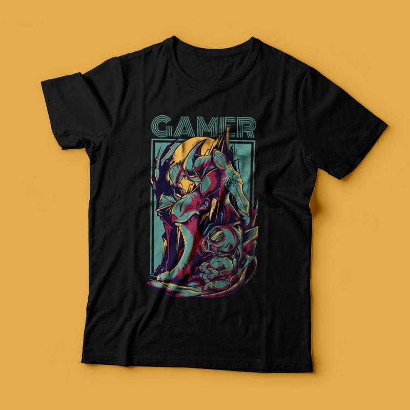 Gamer buy t shirt design