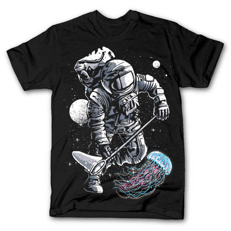 Astronaut Jellyfish T shirt Design buy t shirt design