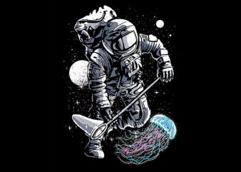 Astronaut Jellyfish T shirt Design