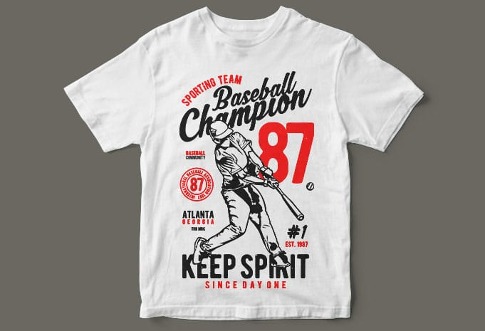 Baseball Champion buy t shirt design