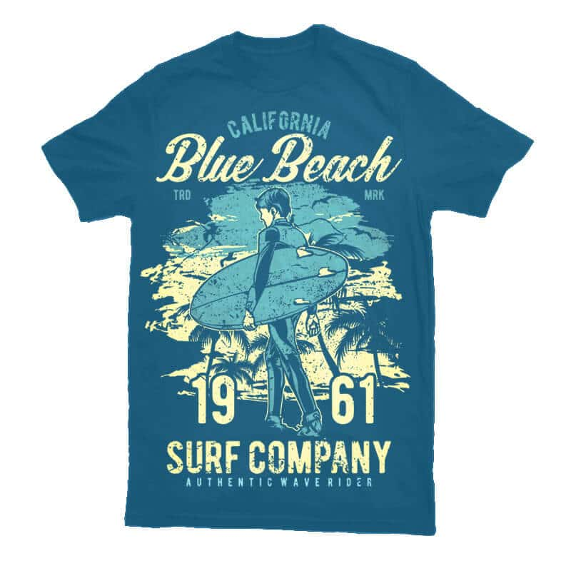 Blue Beach Tshirt - Blue Beach buy t shirt design