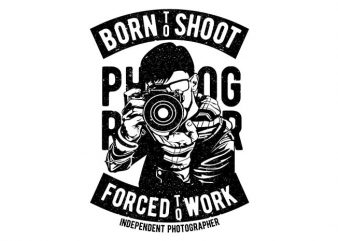 Born To Shoot t shirt template