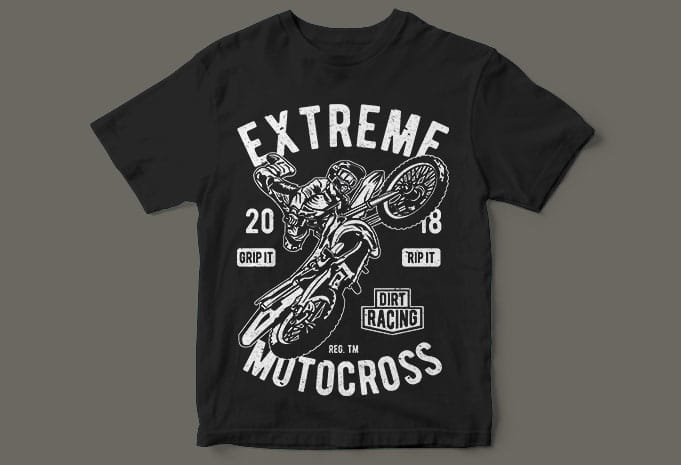 Extreme Motocross buy t shirt design