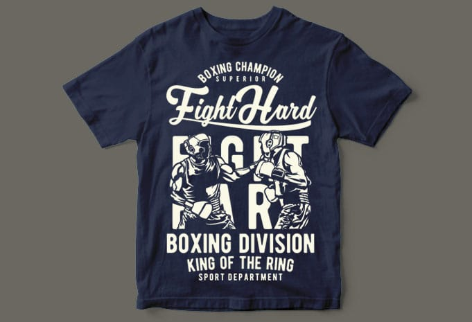 Fight Hard buy t shirt design