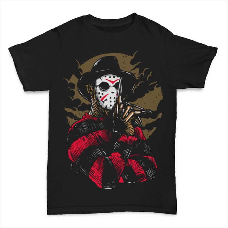 Freddy VS Jason T shirt Design buy t shirt design