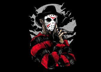 Freddy VS Jason T shirt Design