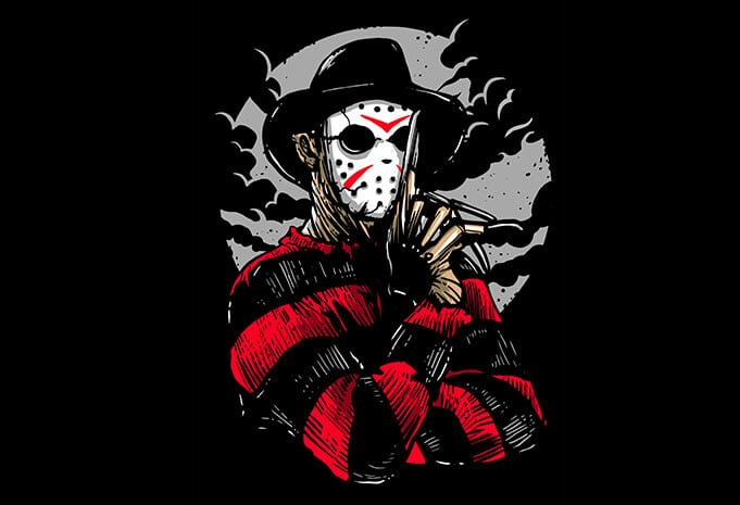 Freddy VS Jason t shirt shirts - Freddy VS Jason T shirt Design buy t shirt design