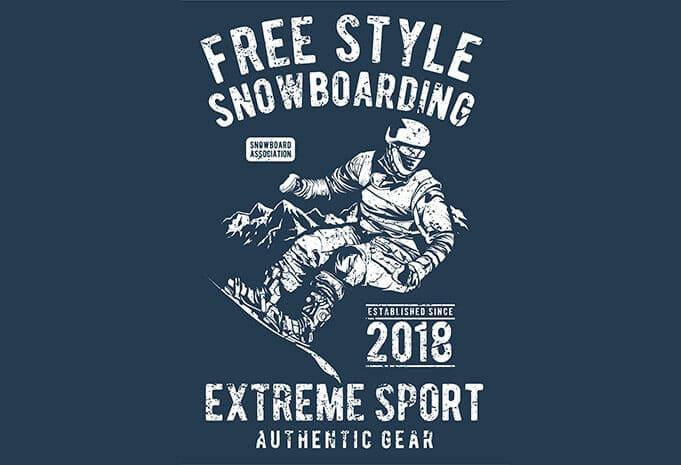 Free Style Snowboarding t shirt design - Free Style Snowboarding buy t shirt design