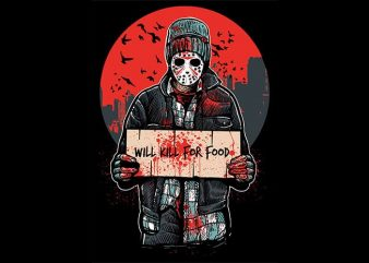Kill For Food T shirt Design buy t shirt design