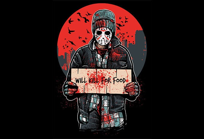 Kill For Food buy t shirt design - Kill For Food T shirt Design buy t shirt design