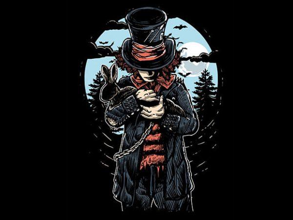 Mad Hatter T shirt Design