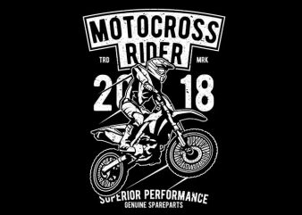 Motocross Rider t shirt vector