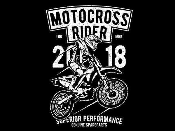 Motocross Rider buy t shirt design