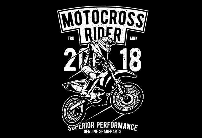 Motocross Rider T shirt Design - Motocross Rider buy t shirt design