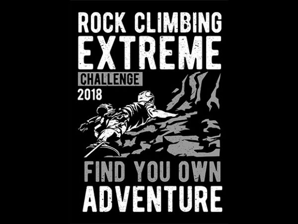 Rock Climbing T shirt design 600x450 - Rock Climbing buy t shirt design