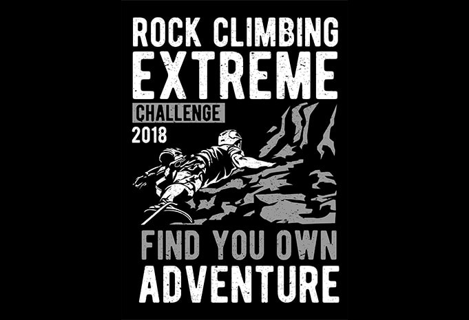 Rock Climbing T shirt design - Rock Climbing buy t shirt design