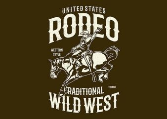 Rodeo t shirt design online