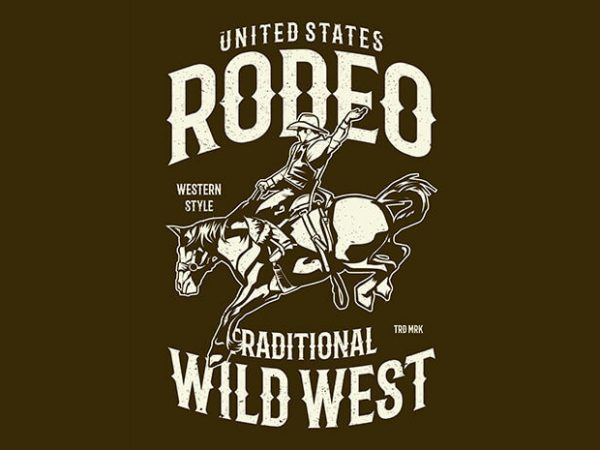 Rodeo buy t shirt design