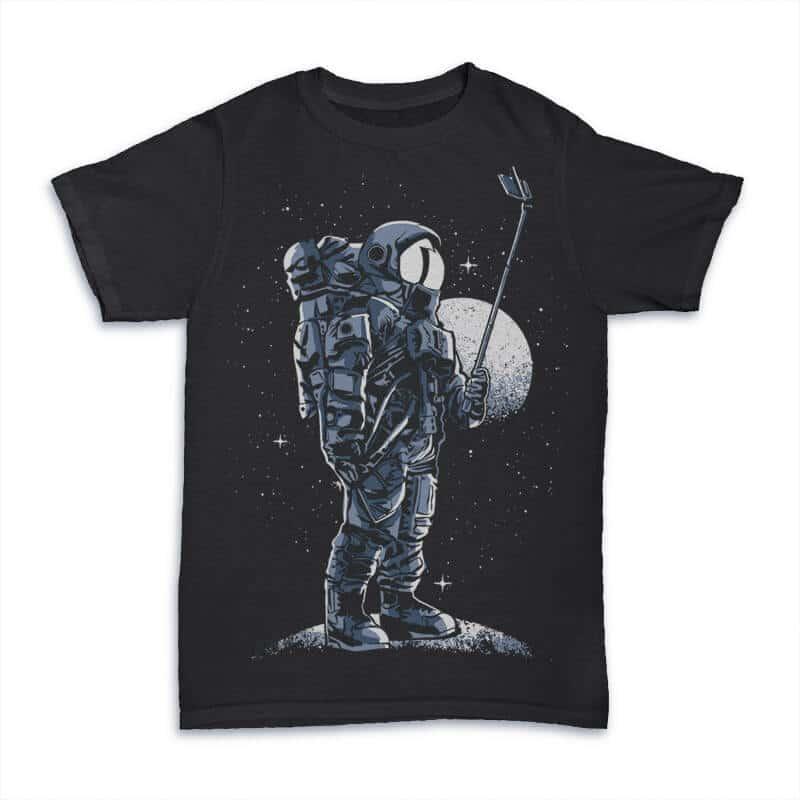 Selfie Astronaut T shirt Design buy t shirt design