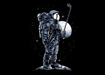 Selfie Astronaut T shirt Design buy t shirt design