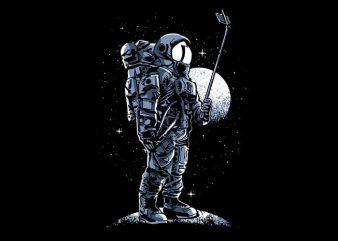 Selfie Astronaut T shirt Design t shirt vector