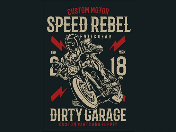 Speed Rebel t shirt template vector