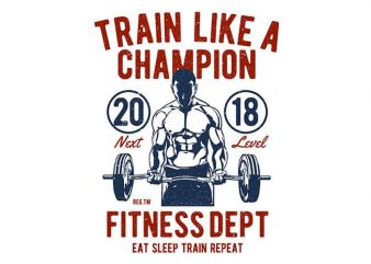 Train Like A Champion t shirt designs for sale
