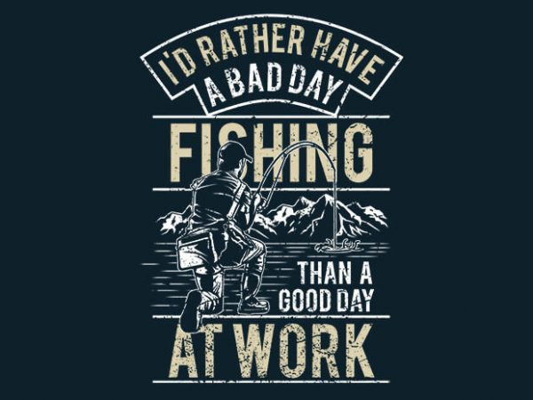 Fishing t shirt graphic design