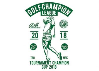 Golf Champion League buy t shirt design