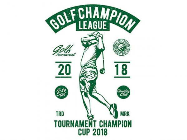 Golf Champion League buy t shirt design