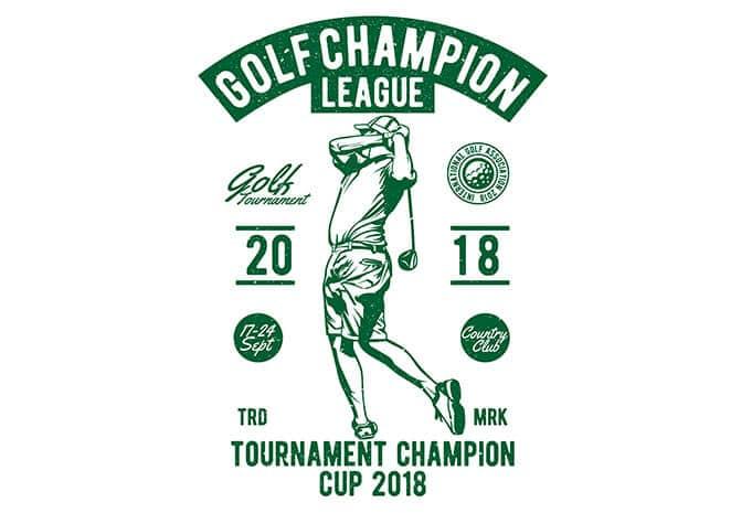 golf t shirt design - Golf Champion League buy t shirt design