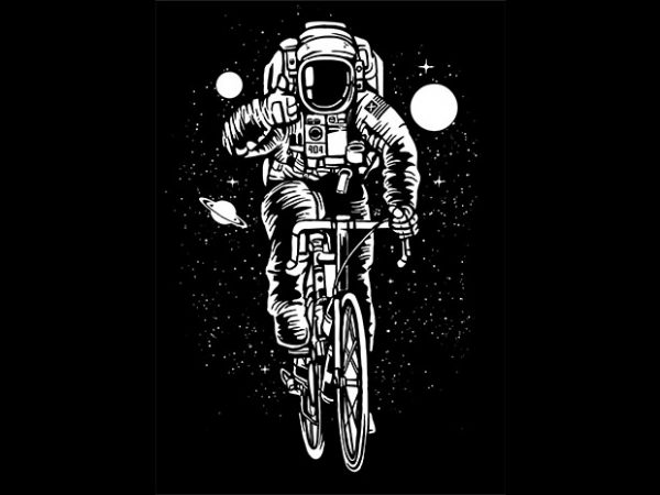 Astronaut Bicycle Tshirt design buy t shirt design
