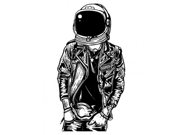 Astronaut Punkster tshirt design buy t shirt design