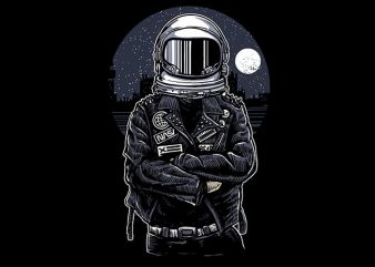Astronaut Rebel tshirt design