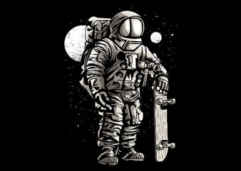 Astronaut Skater t shirt design buy t shirt design