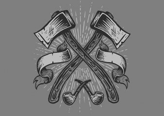 Axes T shirt design buy t shirt design