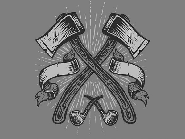 Axes T shirt design
