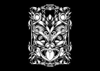 Maori Mask T-Shirt Design buy t shirt design