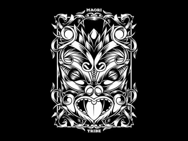 BTD 1 600x450 - Maori Mask T-Shirt Design buy t shirt design