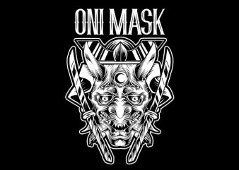 Oni Mask T-Shirt Design buy t shirt design