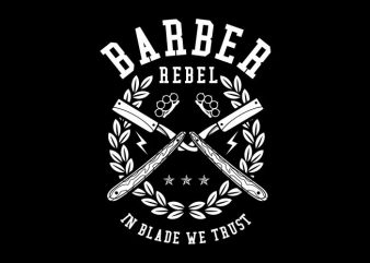 Barber Rebel t shirt template