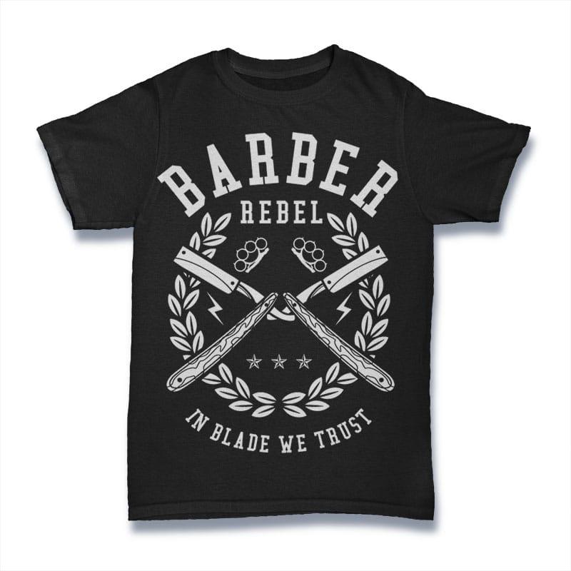 Barber Rebel buy t shirt design