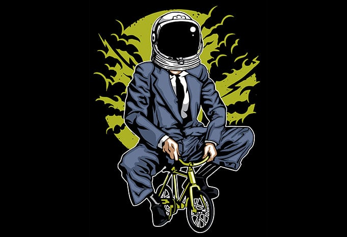 Bike To The Moon tshirt design - Bike To The Moon t shirt design buy t shirt design