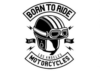 Born To Ride Motorcycles buy t shirt design