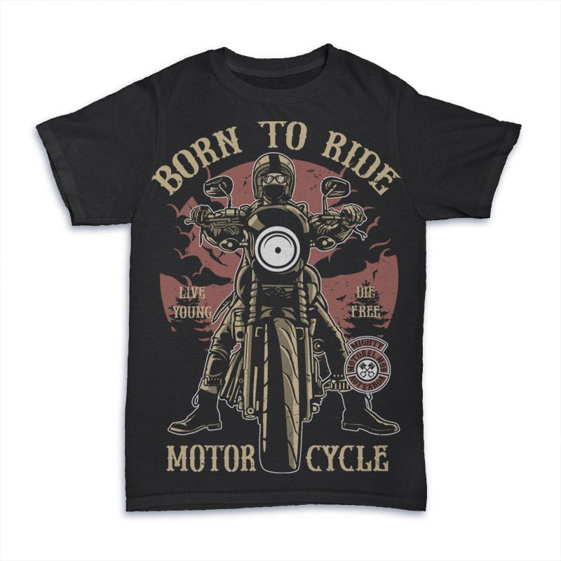Born To Ride T shirt design buy t shirt design
