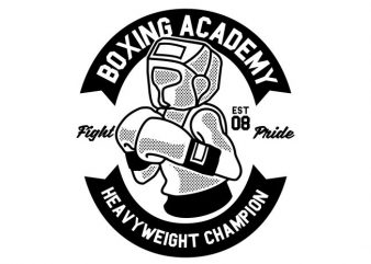 Boxing Academy buy t shirt design