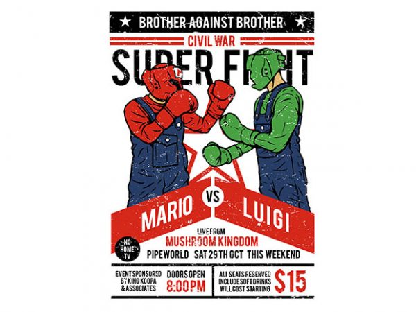 Brother Against Brother tshirt design