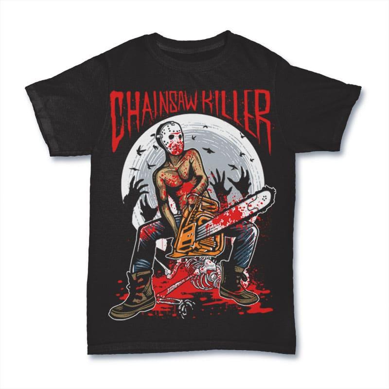 Chainsaw Killer tshirt design buy t shirt design